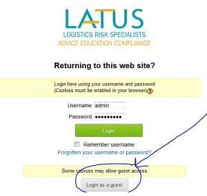 log in page LMS
